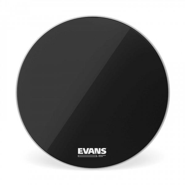 Evans Resonant Black Bass Drum Head, 18 Inch