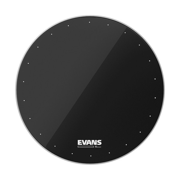 Evans EQ1 Resonant Black Bass Drum Head, 20 Inch