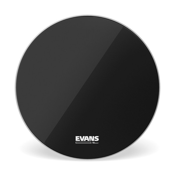 Evans EQ3 Resonant Black Bass Drum Head, No Port, 20 Inch