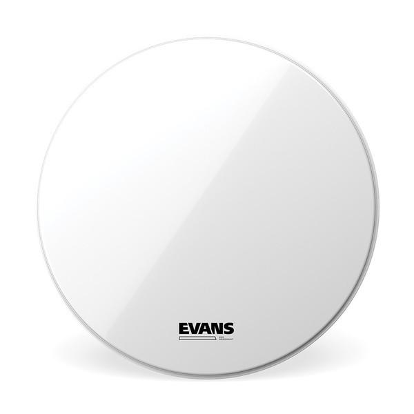 Evans EQ3 Resonant Smooth White Bass Drum Head, No Port, 22 Inch