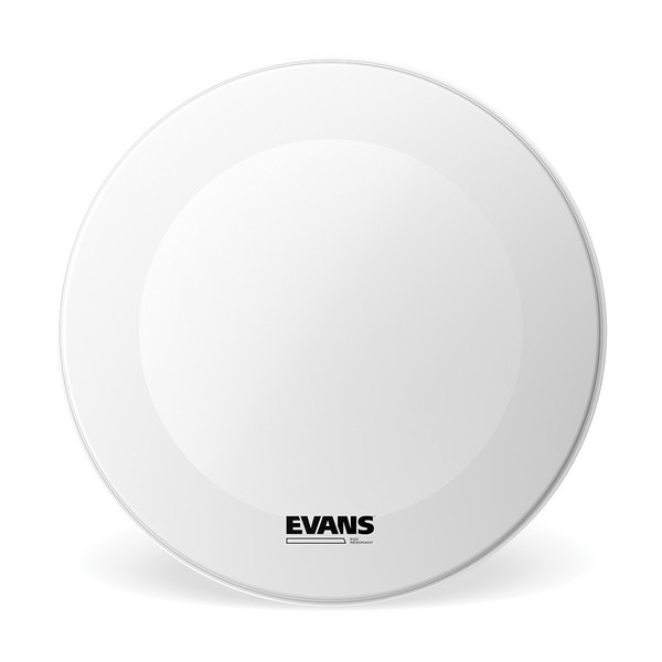 Evans EQ3 Resonant Coated White Bass Drum Head, No Port, 24 Inch