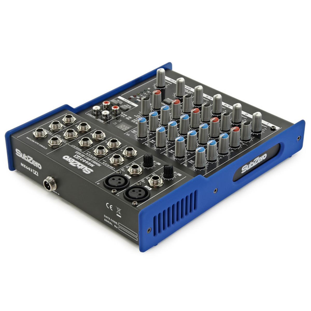 Table de mixage me602fx 6 canaux avec fx par gear4music for Table de mixage xpress 6 keywood