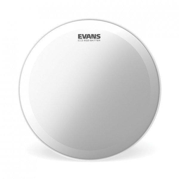 Evans EQ3 Frosted Bass Drum Head, 24 Inch