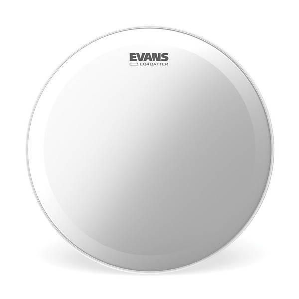 Evans EQ4 Frosted Bass Drum Head, 24 Inch
