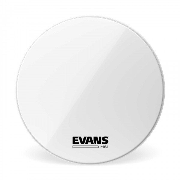 Evans MS1 White Marching Bass Drum Head, 24 Inch