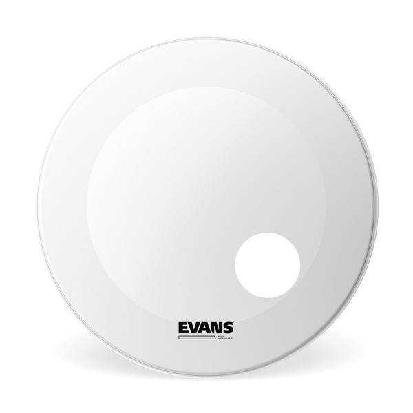 Evans EQ3 Resonant Coated White Bass Drum Head, 24 Inch