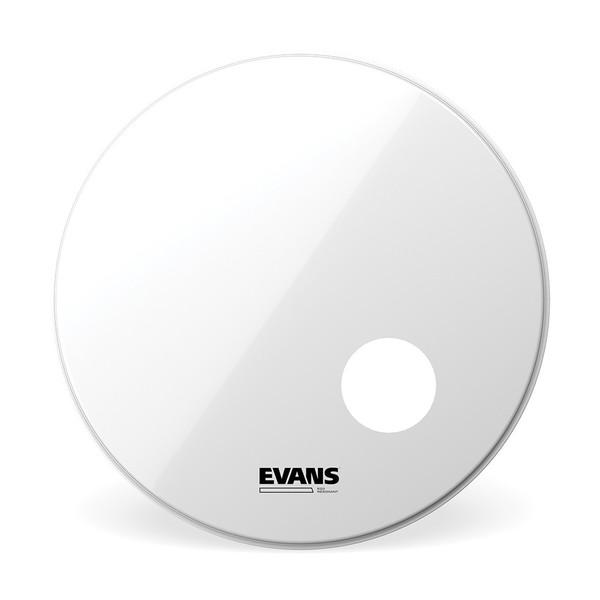 Evans EQ3 Resonant Smooth White Bass Drum Head, 24 Inch