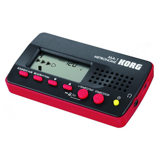 Korg MA-1 Digital Metronome, Black/Red