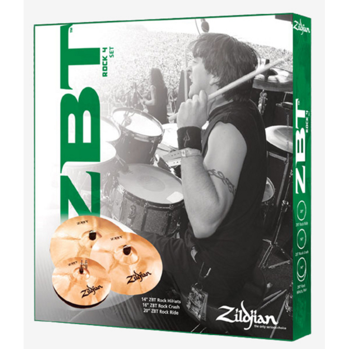 Zildjian ZBT R4P Rock 4 symbaalin paketti bonuksena 18