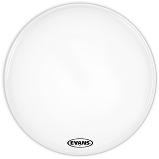 Evans MS1 White Marching Bass Drum Head, 30 Inch