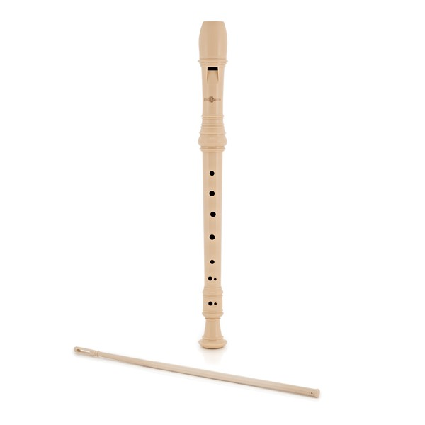Descant Recorder with Cleaning Rod