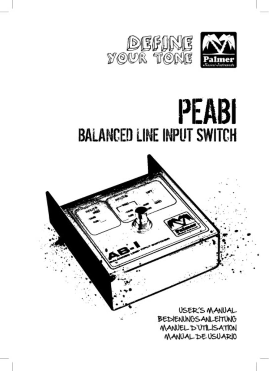 Palmer Abi Balanced Line Input Switch At Gear4music