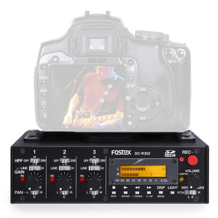 Fostex DC-R302 Portable SD Recorder for DSLR Camera with Camera