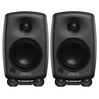 Genelec 8020C Bi-Amped Studio Monitor, Black (Pair)