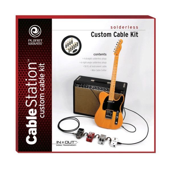 Planet Waves Solderless Custom Cable Kit, 50 feet, 10 plugs