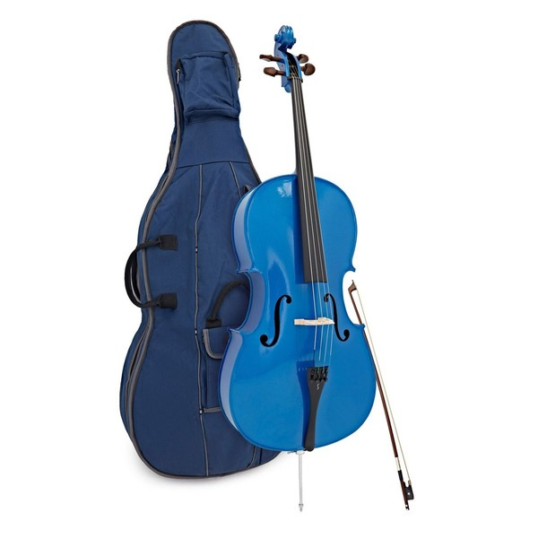 Stentor Harlequin Cello Outfit, Blue, 3/4