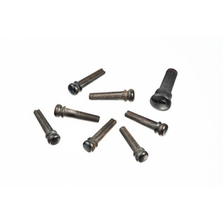 Planet Waves Ebony Bridge Pins with End Pin Set, Ebony