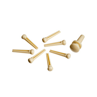 Planet Waves Injected Molded Bridge Pins with End Pin, Set of 7, Ivory