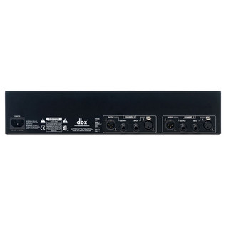dbx 231s Dual 31-Band Constant Q Graphic EQ Rear
