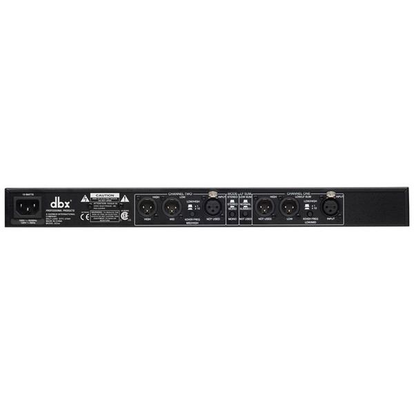 dbx 223xs Stereo 2-Way/Mono 3-Way Crossover Rear