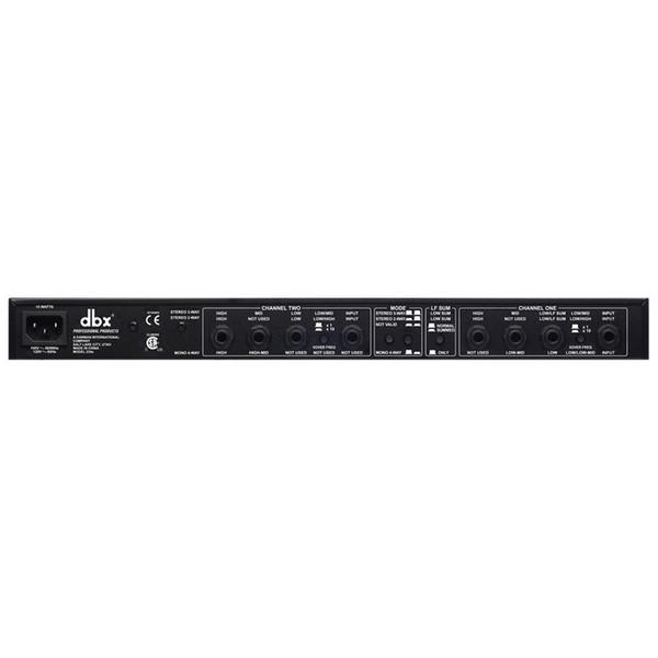 dbx 234s Stereo 2 + 3 Way/Mono 3 + 4-Way Crossover Rear