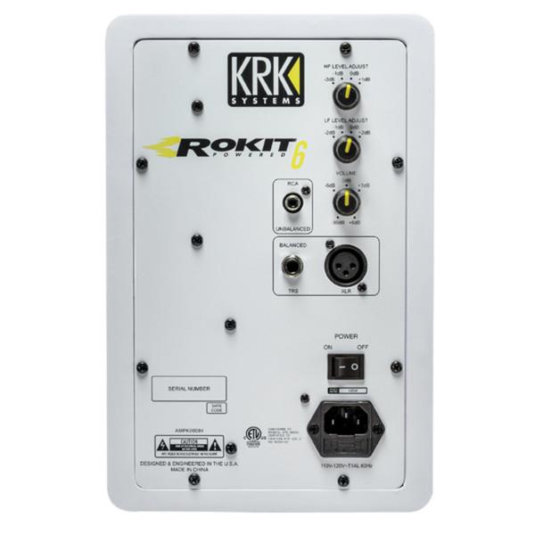 KRK Rokit RP6 G3 Active Monitor (White), Single