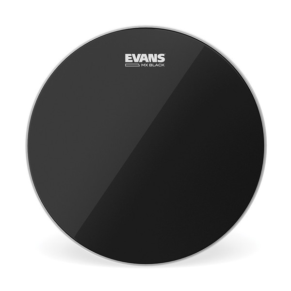 Evans MX Black Marching Tenor Drum Head, 12 Inch
