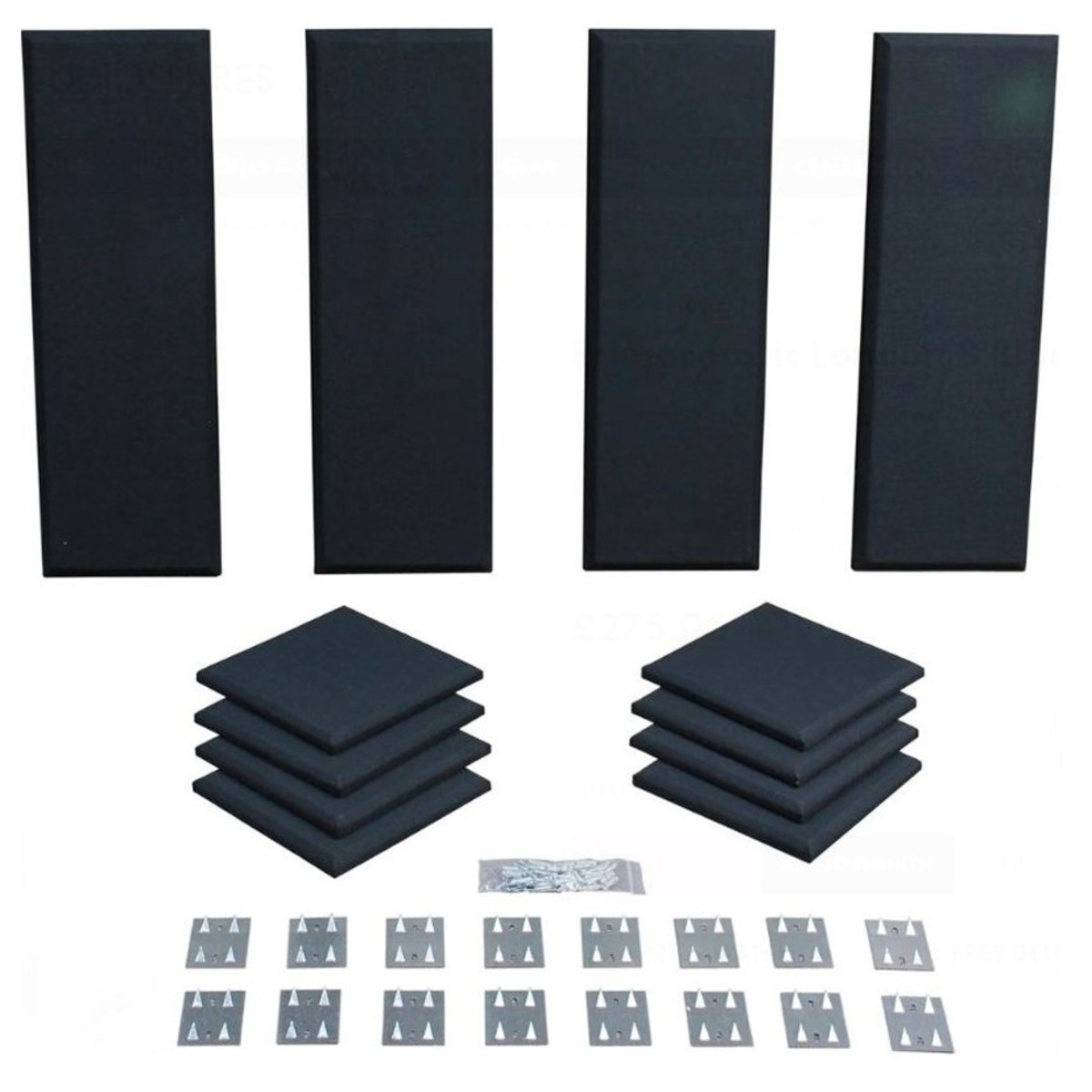 Click to view product details and reviews for Primacoustic London 8 Room Kit In Black.