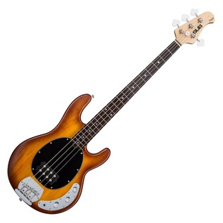 Sterling by Music Man Sub Ray 4 Bass Guitar, Honey Burst Satin