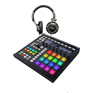 Native Instruments Maschine MK2, Black + Shure SRH550DJ Headphones