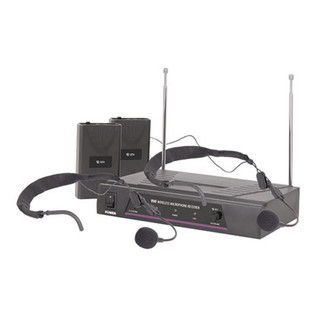 QTX VHF Dual Neckband Wireless Microphone System - 174.1 + 175.0MHz