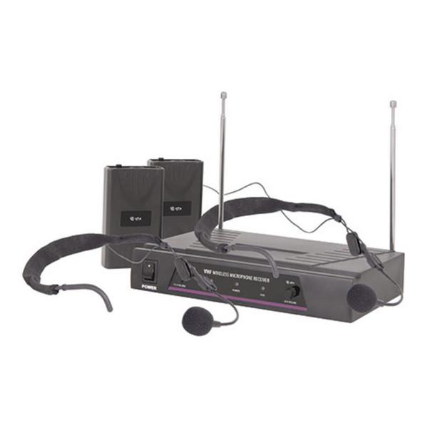 QTX VHF Dual Neckband Wireless Microphone System - 174.1 + 175.0MHz