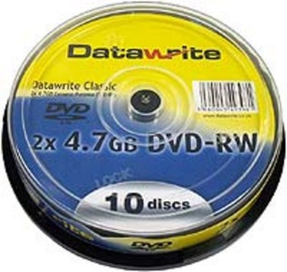 DVD-RW Datarite, 10pack