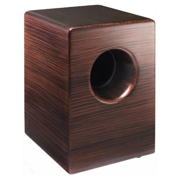 Pearl BOOM BOX Fiberglass Cajon with Ported Chamber, Burgundy Mix
