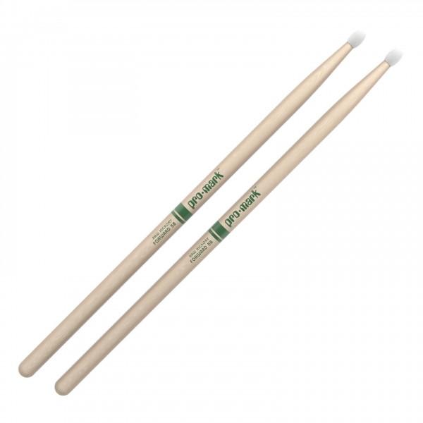 Promark Classic Forward 5B Raw Hickory Drumsticks, Nylon Tip