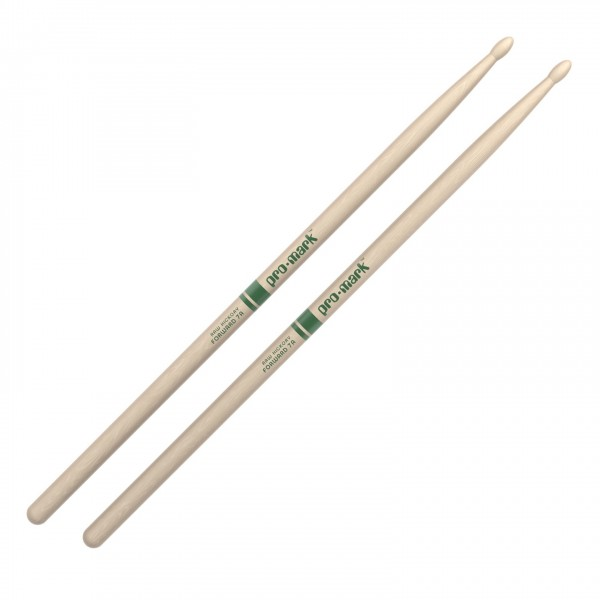Promark Classic Forward 7A Hickory Drumsticks, Wood Tip