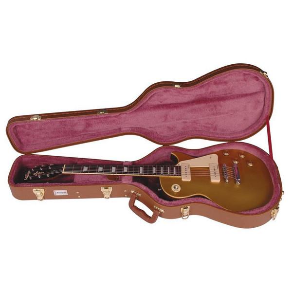 Kinsman Shaped Guitar Case, Brown