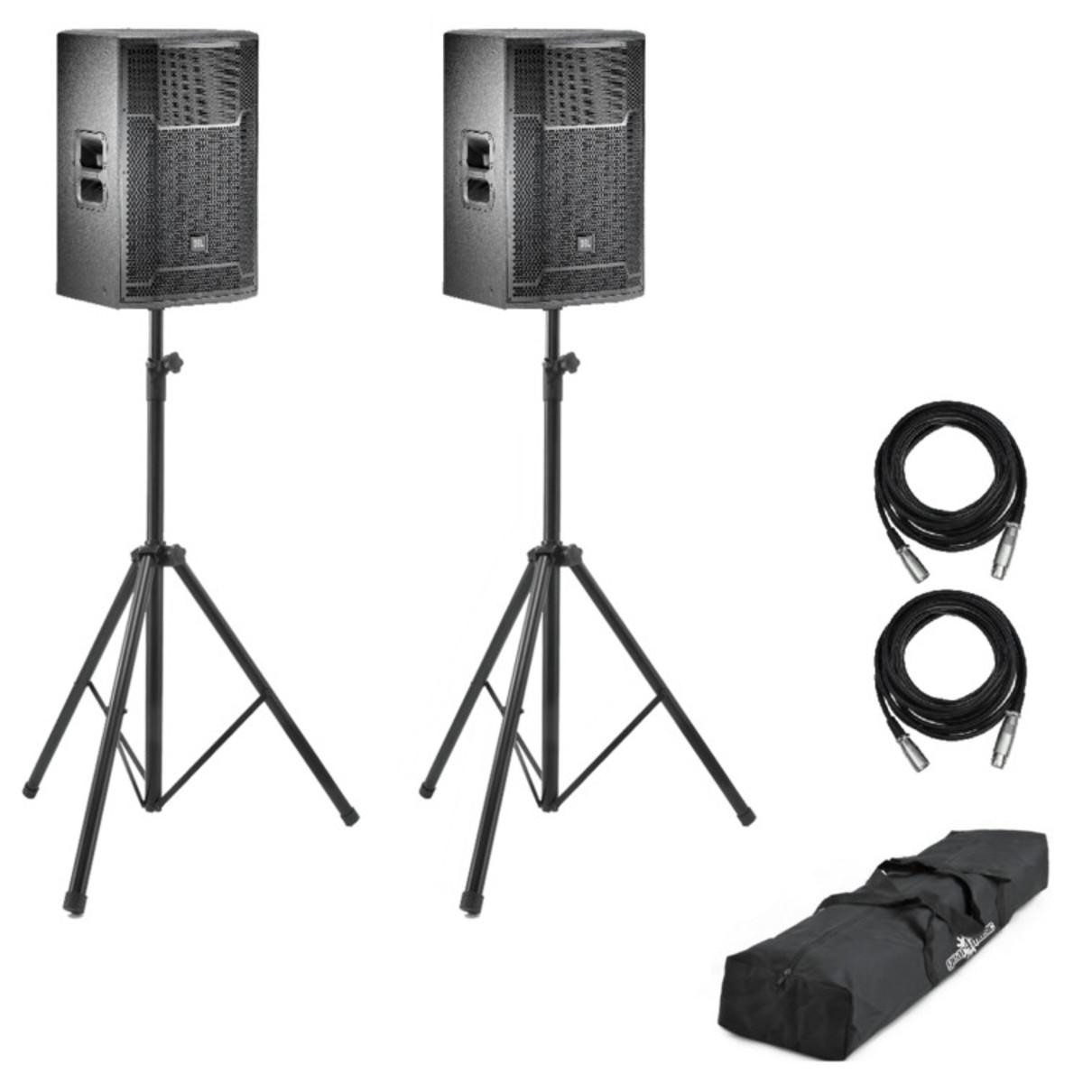jbl prx715 15 active pa speaker bundle including stands gear4music. Black Bedroom Furniture Sets. Home Design Ideas