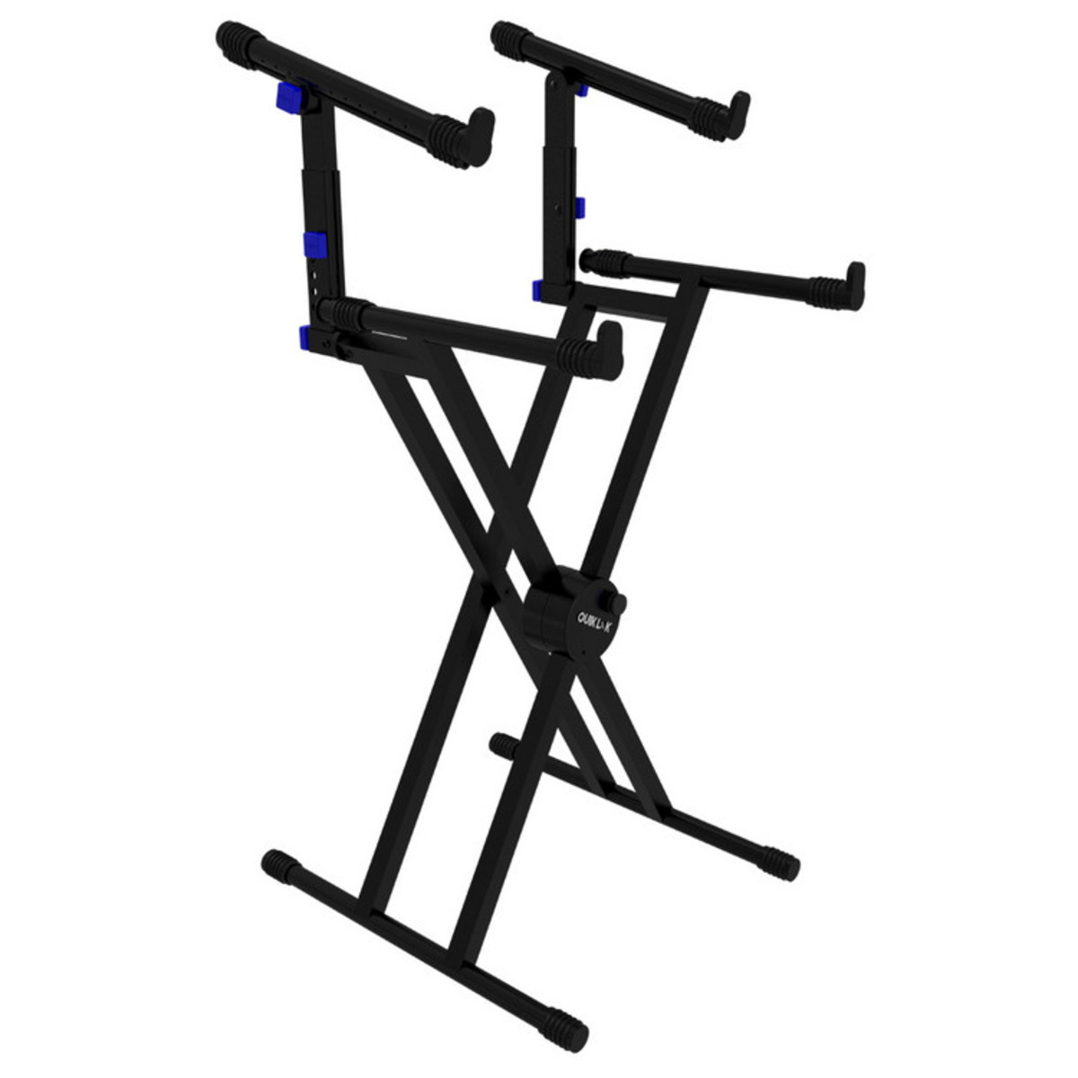 quiklok ql742 heavy duty two tier keyboard stand black nearly new at gear4music. Black Bedroom Furniture Sets. Home Design Ideas