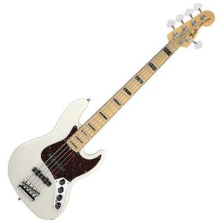 fender american deluxe jazz bass v 5 string ash mn white blonde at. Black Bedroom Furniture Sets. Home Design Ideas