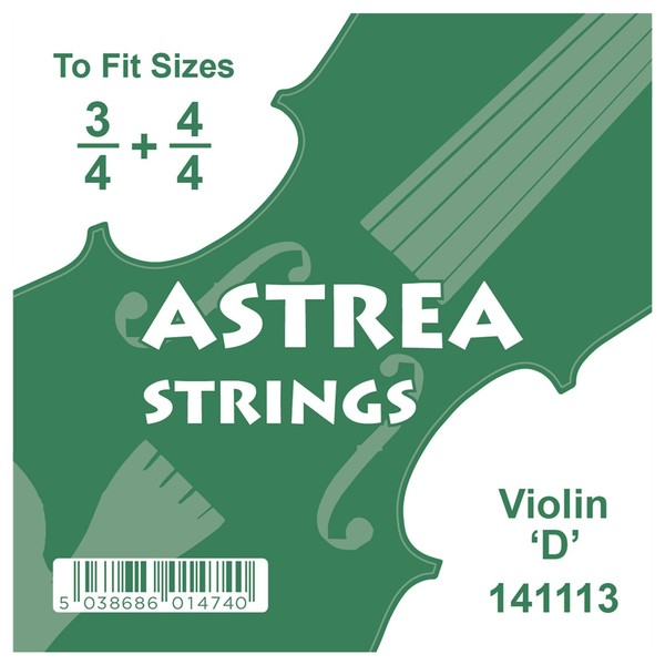 Astrea Violin D String, 3/4 - 4/4