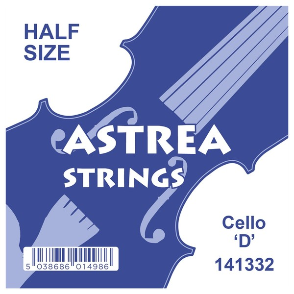 Astrea Cello D String, 1/4 - 1/2
