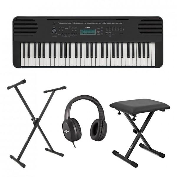 Yamaha PSR E360 Portable Keyboard Pack, Black