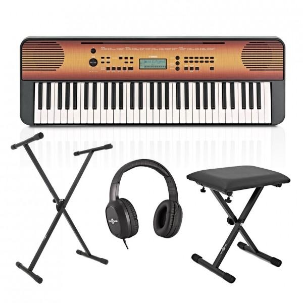 Yamaha PSR E360 Portable Keyboard Pack, Maple