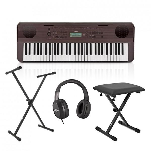 Yamaha PSR E360 Portable Keyboard Pack, Dark Walnut