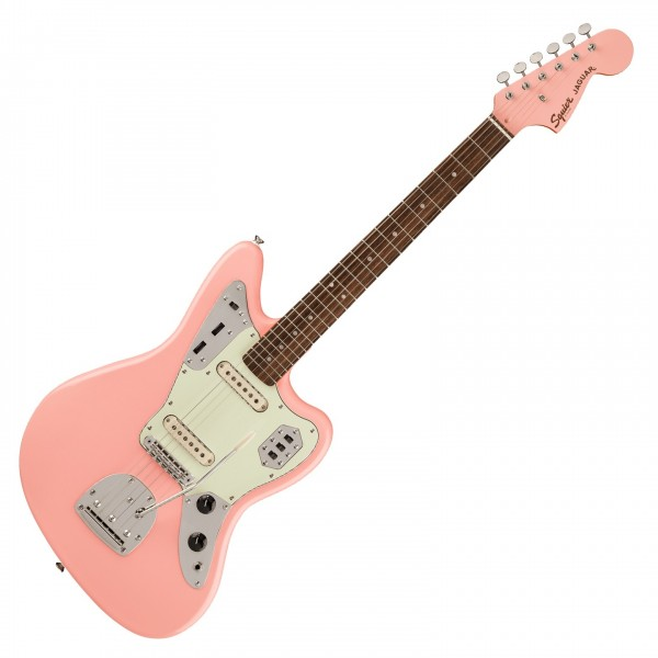 Squier FSR Classic Vibe 60s Jaguar, Shell Pink - Front View