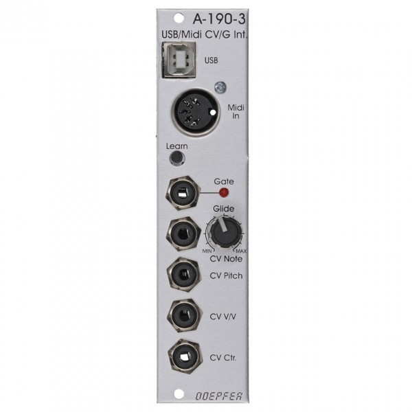 Doepfer A-190-3 MIDI-to-CV/Gate Interface (6HP) - Front