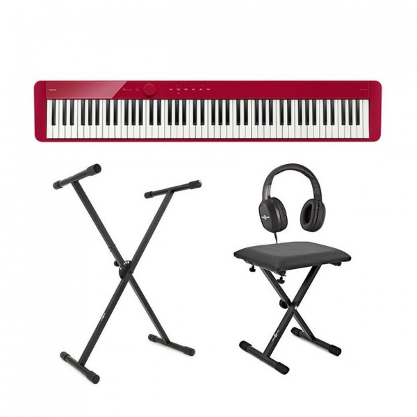 Casio PX S1100 Digital Piano X Frame Package, Red