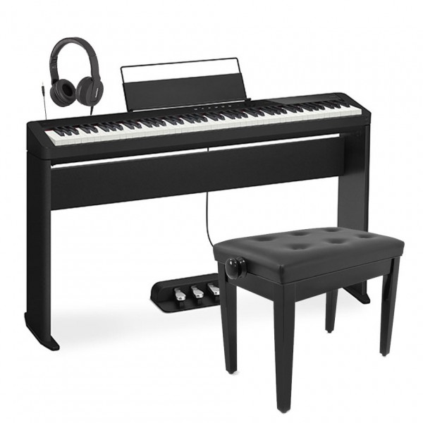 Casio PX S1100 Digital Piano Wood Frame Package, Black