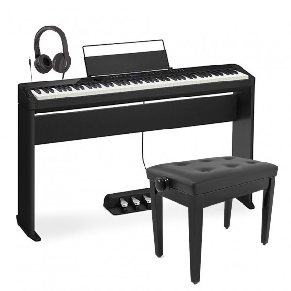 Casio PX S3100 Digital Piano Wood Frame Package, Black